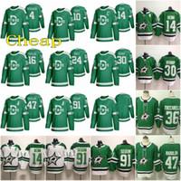 2020 Dallas Jersey 14 Jamie Benn 91 Tyler Seguin 30 Ben Bishop 47 Alexander Radulov 4 Miro Heiskanen 24 Rope Hintz Green Hockey Jerseys