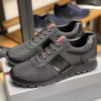Match Race Triple-Zurück Runner Sneakers Stoff und Leder Triple-Rückentrainer Klassische Designers Laufschuhe Freizeitschuhe mit Kasten