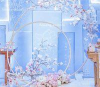 Tamanho grande Nupcial Grande Ferro Rodada Anel Arcos Quadro Fundo Decoração Flor Porta Moldura Decoração de Casamento Adereços