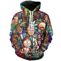 WDJUGZ 2018 fashion brand 3D hoodie cartoon Rick and moti pr...