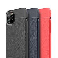 Litchi Leather Texture Case Ultra Slim Shock Proof soft TPU Silikongummi Skydd till iPhone 12 Pro Max 11 XS XR X 8 7 6 6S plus SE 2020