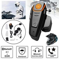 New 1000m Waterproof QTA35 capacete da motocicleta Bluetooth Headset Motorbike Outdoor