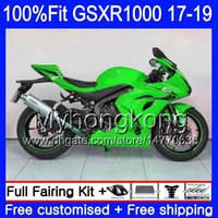 Инъекция для Suzuki Glossy Green GSX-R1000 L7 L8 GSXR 1000 2017 2019 2019 331HM.48 GSX R1000 K17 GSXR-1000 GSXR1000 17 18 19 Объединения