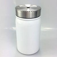 17 oz Sublimation Mason Jar Cup transfert thermique inoxydable tasse à café en acier Portable Isolation thermique Tumbler avec couvercle en métal paille SEA A09