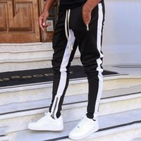 Joggers Mens Streetwear Sweatpants Zippers Elastic Hip Hop C...
