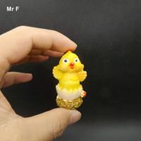 Игрушка Ребенок Китайская Культура Цыпленок Выйти Из Яичной Скорлупы Миниатюрные Фигурки Симпатичные Мини Искусственные Модели Diy