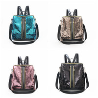 Glitter Outdoor Women Sequins Backpack Teenage School Book B...