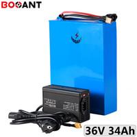 1500W 1000W 34Ah 36V Lithium-Batterie für 32650 Zelle 36V 750W elektrische Fahrradbatterie mit 5A Ladegerät EU US Freiem Zoll / Steuern
