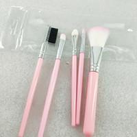 5pcs / set pinceaux de maquillage sac opp rose Mini buisson à lèvres brosse belle poudre d'outils de maquillage dhl livraison gratuite