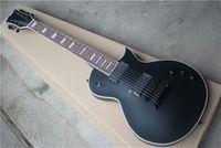 ماتي الأسود الجسم روزوود الأصابع الغيتار الكهربائي مع جسر ثابت، الأجهزة السوداء، 2 التقاطات، يمكن تخصيصها