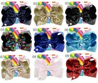 8 inch Jojo Glitter Mermaid Flip Sequin Big Bow Hairpin Baby...