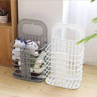 Paniers à linge mural Sacs à linge pliable jouets Boîte de rangement linge sale Organisateur Sac De Lavage Blanc Gris option DSL-YW3079