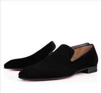 Vente-Gentleman Hot Party Dress Red Shoes Bas Pissenlit Mocassins Hommes Loisirs Big Flats Taille euro 38-46