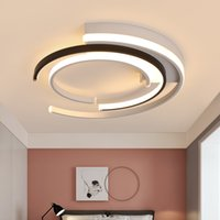 Geometrica Lampada moderna LED ANELLO ANELLO LIGHT LOFT IIVNG LIGHT DOOM BACCHETTO Camera da letto Nordic Interior Lighting Apparecchio