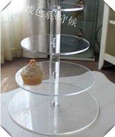우아한 4 개 계층 아크릴 케이크 / 컵 케이크 스탠드 홀더 웨딩 장식