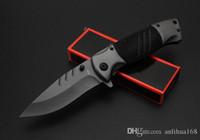 Novo OEM Marrom F83 DA104 DA72 Rápido-abertura faca dobrável Tático Titaniun Cinza Lâmina de Aço + alça de alumínio facas de campismo com caixa de varejo