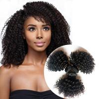 Braziliaanse Vietnam Virgin Menselijk Haar Weeft Sexy Korte 8-12Inch Haar Inslag 3 Stks Indian European Kinky Krullende Remy Hair Extensions Dhgate