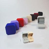 4 * 5 * 5.5cm alta qualità casi di gioielli che si affollano plastica anelli di colore solido scatole regalo di giorno di san valentino avvolgere 1 96cs E1