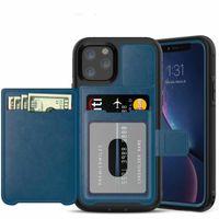 لمدة 11 فون برو ماكس XS XR X 8 7 زائد الجلود الهاتف القضية ثلاثة محفظة مكافحة المحمول حالة غطاء حامل مع فتحة بطاقة
