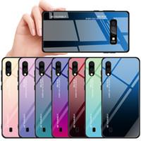 Handyhülle für Samsung Galaxy S21 PLUS S21 Ultra S20 S10 S9 AURORA allmählich Ändern der Farbabdeckung Tempered Gla Protector Phone Shell für Anmerkung 20 Ultra Note 10 9 8