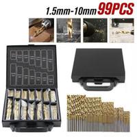 99Pcs forets titane métal enduit HSS Twist acier brique Set Outils Accessoires (99Pcs: 1.5mm-10mm)