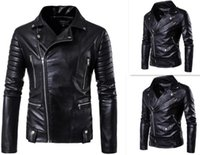 Hot 2017 Men' s autumn winter brand rock leather jacket,...