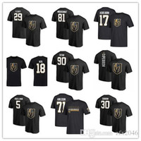 29 # Marc-Andre Fleury Uomo Vegas Golden Knights T-Shirt 71 # William Karlsson 18 # James Neal Hockey Maglie Spedizione Gratuita stampati Loghi