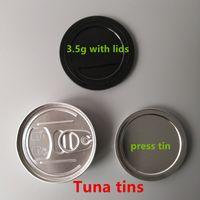 علبة من العلب المعدنية المصنوعة من التبغ سعة 3.5 جرام يمكن أن تظهر كالي في أعلى المنصة وبها غطاء مخصص سهل الفتح وغطاء ChildProof 73 (D) × 23 (h) mm