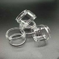 ECIG Clear Pyrex Glass Tube do baterii Vandy Vape Revolver RTA 5ML Atomizers zbiornika Wymiana Żarówka Gruba Chłopiec Wypukł Extended E Cig Foam Packing