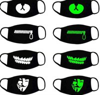 Luminous Face Mask Outdoor Cute Mouth Anti- Dust Sport Mask W...