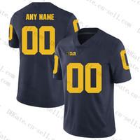 Benutzerdefinierte Michigan Wolverines Jeder Name S-6XL weiß blau gelb 2 Shea Patterson 7 Hudson 10 Bush Woodsonb NCAA College Football Jersey