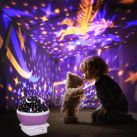 رومانسية بقيادة مصباح ليلة بالتناوب النجوم ستار مون سكاي دوران ليلة إضاءة العارض مصباح أطفال الأطفال الطفل النوم أضواء