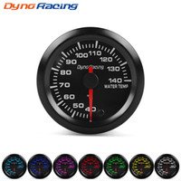 "Dynoracing 2"" 52mm 7 Colors LED Car Water Temp Gauge 40..."