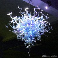 100% soffiato di Murano Glass Chandelier Art Progettato Ombra attaccatura di vetro LED moderna Crystal Hotel Villa del soffitto lampadario decorativo