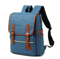 2020 Wholesale Backpack Travel Sports outdoors Men and women canvas bags Schoolbag Durable 16 inches Computer package Grey Black Blue 612