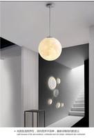 3d impresso quarto lua lustre Nordic simples criativo crianças sala lâmpada sala de jantar corredor varanda bola lâmpada