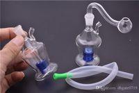 Nowy mały szklany backwater szklany rig olejny palenia bongi wodne kobiet 10mm Dab platformy ze szklaną miską i wąż