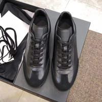 B01 Sapatilha Em Couro Liso Preto Mulheres Sapatos Casuais Homens B01 Camurça Sapatilha Designer Low Top Lace-Up Sapatos Casuais Planas