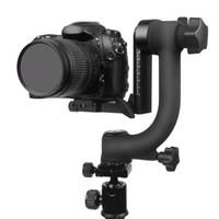"Profissional panorâmico de 360 graus Vertical Pro Gimbal Tripé Cabeça 1/4 ""Parafuso para Cannon Nikon Pentax Sony DSLR Câmeras DV Camcorder"