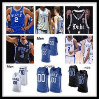 Benutzerdefinierte 2021 Duke Blue Devils College Jersey Basketball Vernon Carey Jr. Tre Jones Cassius Stanley Matthew Tat Wendell Moore Jr.coach K Kinder