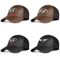 Hyundai mens e donne Logo Pony protezione del cappello personalizzato squadra dotata baseballhats classici Hyundai Genesis emblema Red logo simbolo marina mercantile