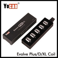 Auténtica Yocan Evolve Plus XL Evolve D pandon Regen QTC bobina QDC de cerámica de cuatro núcleos Cabeza vaporizador Kit bobina original del 100%