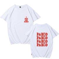 Мужские футболки, которые я чувствую себя как Pablo Tee хлопчатобумажные мужчины футболка женщины панк рок плюс размер пружины и с короткими рукавами улицы