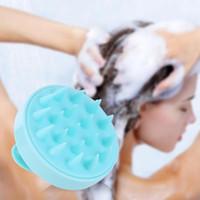Masajeador de silicona Champú Cepillo de masaje de cuero cabelludo Lavado del cabello Cepillo de ducha corporal Dientes Anti-pérdida de cabello Peine de masaje
