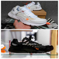 2018 Nuevo nike off white Presto 2.0 Off Running Shoes For Men, negro, blanco Prestos Suela de aire atlético Diseñador Sneakers AA3830-100 Eur 40-46