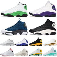 Top Fashion 2020 Flint 13 Jumpman Women Basketball Shoes Lucky Green Court Purple Reverse Game Melo Class off Mens Trainers Sneakers 36-47