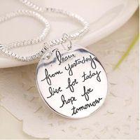 2020 Новая мода ювелирные изделия Learn From Yesterday Live For Today Надежда На Завтра Письмо ожерелье подарок для женщин 2 цвета