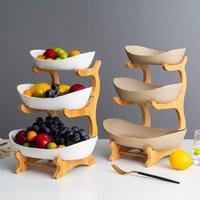Piatto di ceramica Candy Soggiorno casa a tre strati piatto di frutta Piatto Spuntino creativo Moderna Frutta secca Fruit Basket