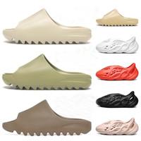 Foam Runner Clog Sandalen Triple Black White Folien Mode Hausschuhe Womens Herren Strand Sandalen Flip Flops 36-45 mit Box