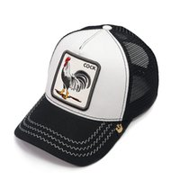 Luxury Embroidery Cock Baseball Caps Fashion Rooster Mesh Ha...